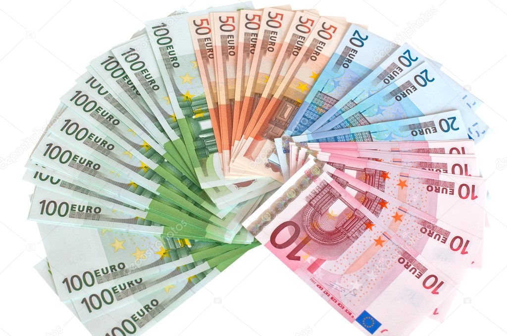Cash euros in the form of a fan. — Stock Photo #11649177