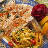 Grilled sea bream ( dorade ) — Stock Photo
