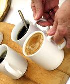 Fresh scalded coffee — Stock Photo