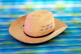 Straw, beach hat — Stock Photo