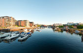 City harbor Trondheim — Stock Photo