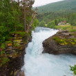 Waterfalls and beautiful mountain rivers of Norway — Stock Photo #11895443