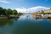 Stockholm, Sweden in Europe. Waterfront view on architecture — Stock Photo