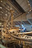 Famous ancient Vasa vessel in Vasa Museum Stockholm, Sweden — Stock Photo