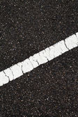 Asphalt with slope white line — Stock Photo