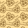 I love animals pattern — Stock Vector #11038875