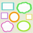 Set of striped paper speech bubbles — Stock Vector #11038880