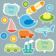 Set of elements for scrapbook for baby boy — Vector de stock #11038924
