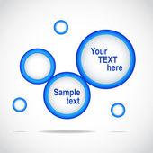 蓝色的抽象 web 站点设计、 矢量模板 — 图库矢量图片