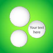 Green torn paper web design — Stock Vector