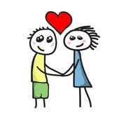 Love between boy and girl — Stock Vector