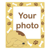 Photo frame for baby or pet — Stock Vector