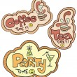 Stock Vector: Tetime, Coffee time, Party time