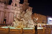 Navonna Square, night view — Stockfoto