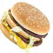 Double burger — Stock Photo