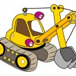 Royalty-Free Stock Vector Image: Yellow excavator
