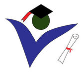 Graduate logo — Stock Vector