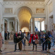 Crowds in the Vatican Museum — Stock Photo
