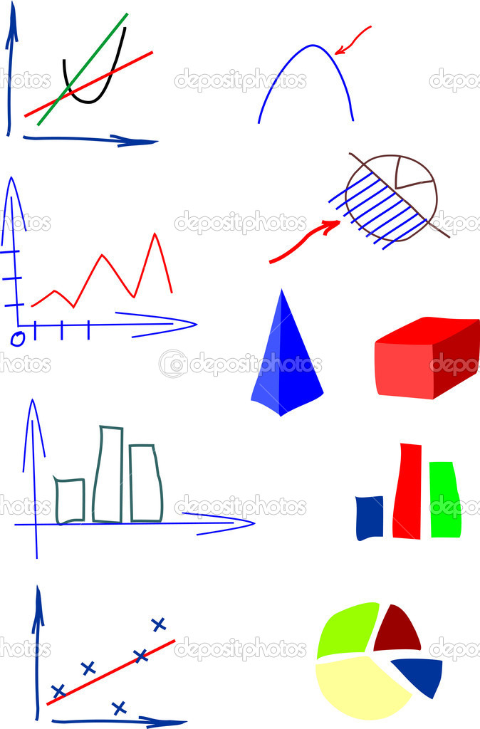 Charts and diagrams drawing by han — Stock Vector #11785629