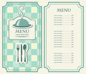 Menu for the night cafe — Stock Vector