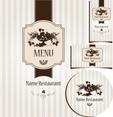 Retro menu — Stock Vector