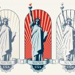 Statue of liberty — Stock Vector #10885562