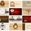 Business cards of food and drink - Stock Vector