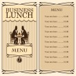 Stock Vector: Business lunch