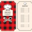 Menu on black red background — Stock Vector