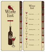 Menu for wine — Stock Vector