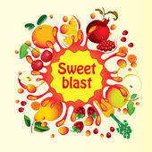 Sweet blast — Stock Vector