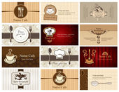Business cards of food and drink — Stock Vector