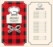 Menu on black red background — Vettoriale Stock