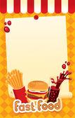 Fast-food menu — Stock Vector