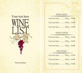 Wine list — Vector de stock