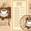 Design for cafe — Stock Vector