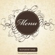 Menus with curls — Stock Vector