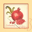 Royalty-Free Stock Vector Image: Embroidered with pomegranates
