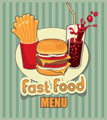 Fast food with cola — Stock Vector