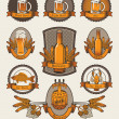 Set of beer - Stock Vector