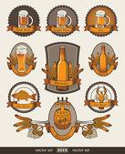 Set of beer — Stock Vector