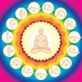 Yogi in the lotus — Stock Vector