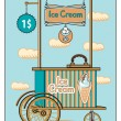Ice cream shop — Image vectorielle