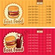 Hamburger and cola — Stock Vector #11920726