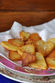 French chips, baked potatoes — Stock Photo
