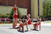 Gymnastics event in Novi Sad — Stock Photo