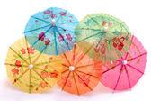 Colorful umbrellas for ice cream — Stock Photo