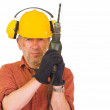 Worker with a drill — Stock Photo #11411656