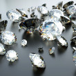 Stock Photo: Many scattered gems