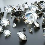 molte gemme sparse — Foto Stock